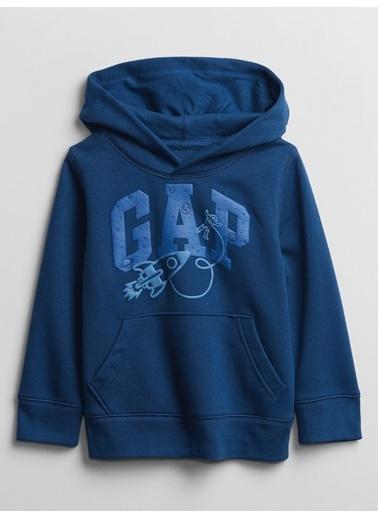 Gap Gap Logo Kapüşonlu Sweatshirt Lacivert